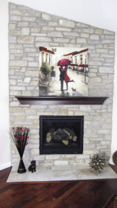 Natural stone fireplace - the Jefferson floor plan - 1835 sq ft