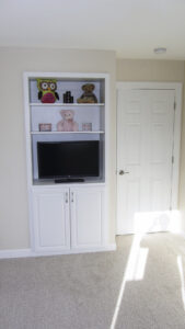 Custom bookcase in kid's bedroom - the Jefferson floor plan - 1835 sq ft