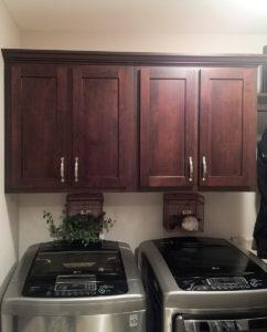 Custom cabinet in laundry