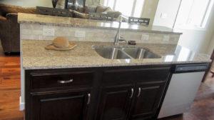 Kitchen - Work island with stainless steel undermount sink - the Jefferson floor plan - 1835 sq ft