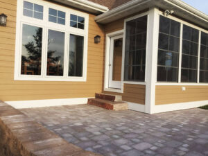 Paver patio with stone steps from 2015 Parade of Homes