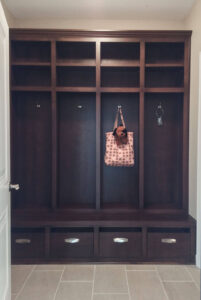 Back hall bench and lockers from 2015 Parade of Homes
