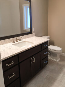 Main bath with custom vanity - the Roosevelt floor plan - 1937 sq ft