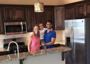 Jeff and Amber in kitchen - the Lincoln floor plan - 1891 sq ft