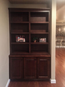 Custom bookcase from 2015 Parade of Homes