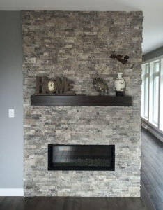 Two sided fireplace from 2016 Parade of Homes