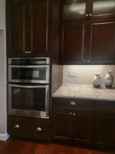 Custom cabinets woven microwave combo from 2015 Parade of Homes