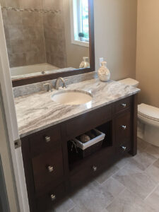Custom vanity & granite counter top from 2015 Parade of Homes