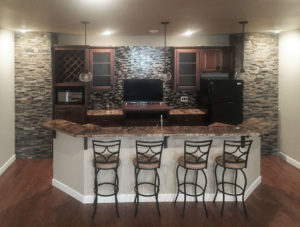 Basement bar from 2015 Parade of Homes