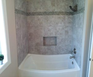 Bath tub and tile - the Adams floor plan - 2120sq ft