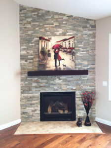 Natural stone fireplace - the Adams floor plan - 2120sq ft
