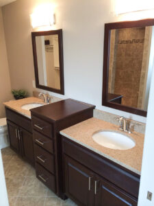Master bathroom with his/her custom vanity - the Adams floor plan - 2120sq ft