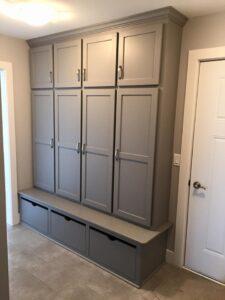 Custom bench cabinet - the Roosevelt floor plan - 1937 sq ft