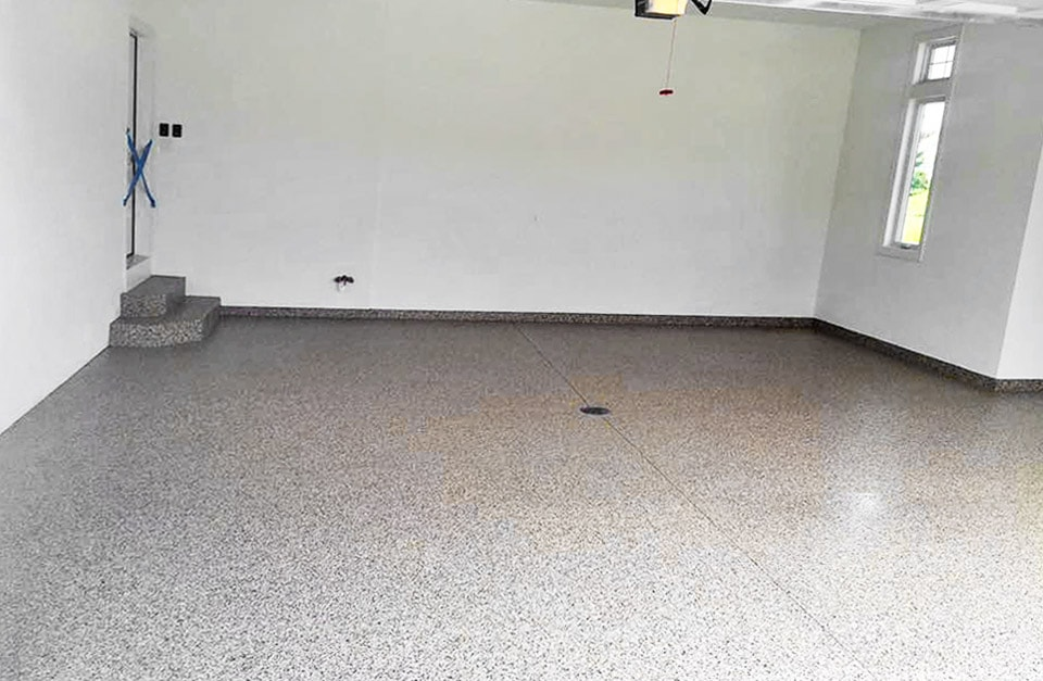 decorative concrete garage floor