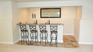 Rec room bar area - the Jefferson floor plan - 1835 sq ft