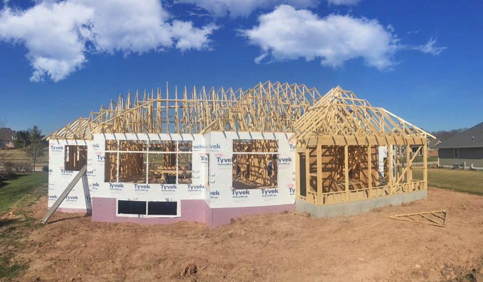house wood skeletal exterior