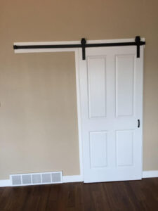 Barn door to office - the Lincoln floor plan - 1891 sq ft