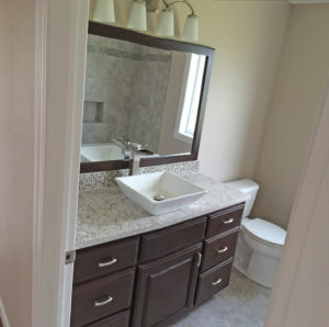 Guest bath - the Adams floor plan - 2120sq ft - 2014 Parade of Homes