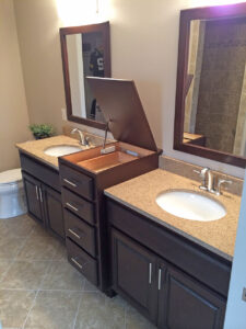 Master bath with open top - the Adams floor plan - 2120sq ft - 2014 Parade of Homes