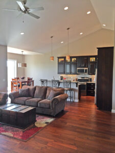 Living room and kitchen - the Adams floor plan - 2120sq ft - 2014 Parade of Homes