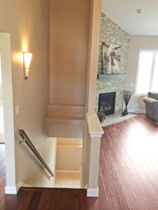 Staircase - the Adams floor plan - 2120sq ft - 2014 Parade of Homes