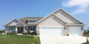 Front exterior - the Adams floor plan - 2120sq ft - 2014 Parade of Homes