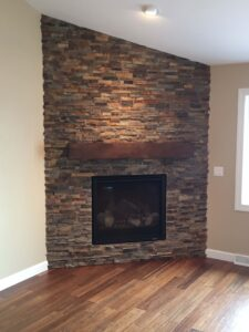 Fireplace - the Lincoln floor plan - 1891 sq ft