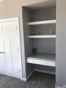 Bedroom custom desk and shelves - 2018 Spring Tour of Homes