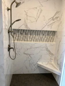 Custom master bath walk-in shower - 2019 Spring Tour of Homes