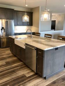 Kitchen work island with quartz top - 2019 Spring Tour of Homes