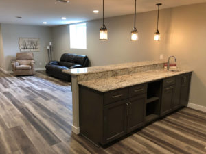 Lower level rec room with bar - 2019 Spring Tour of Homes