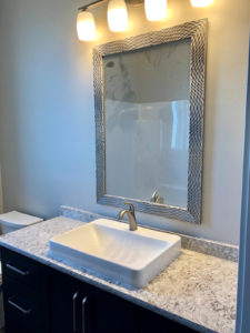 Main bathroom vanity with quartz top - 2019 Spring Tour of Homes