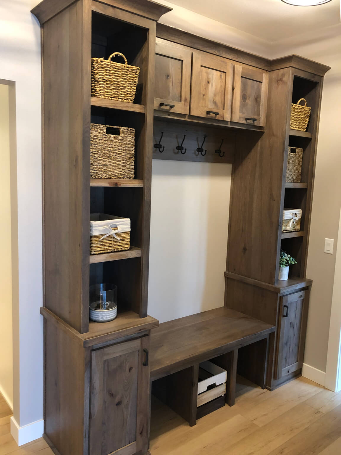 Back hall custom bench area - 2019 Parade of Homes