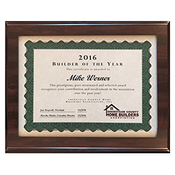 2016 Builder of the Year - Sheboygan County Home Builders Association