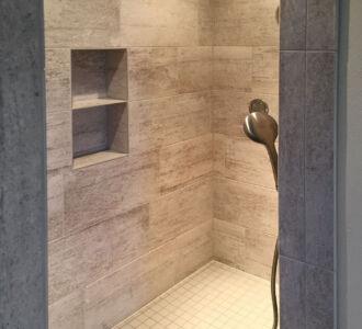 Custom tiled walk in shower
