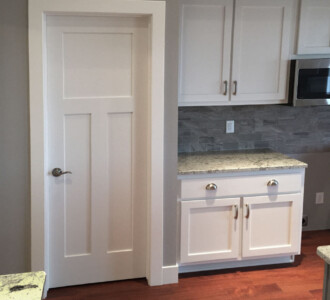 Kitchen with 3 panel doors and straight trim - the Roosevelt floor plan - 1937 sq ft