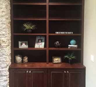 Fireplace bookcase from 2015 Parade of Homes