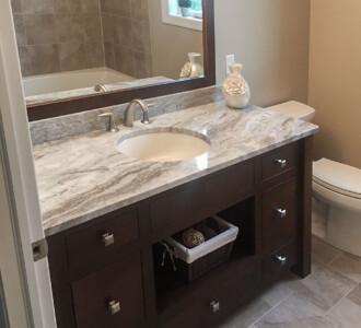 Custom vanity & granite counter top from 2015 Parade of Homes