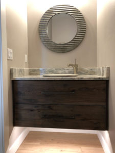 Guest bathroom floating cabinet - 2019 Parade of Homes