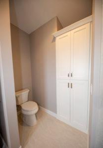 Master bathroom custom linen cabinet - 2019 Parade of Homes