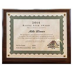 2014 Rising Star Award - Sheboygan County Home Builders Association